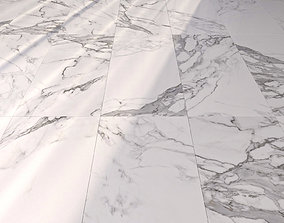 Marble Floor Eternal White Set 2 3D model