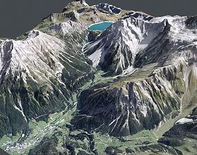 Mountain landscape Alps Switzerland 3D model