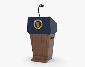 USA Presidential Podium 3D model