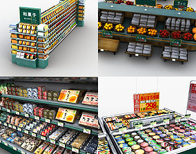 3D model Supermarket Store Display Collection