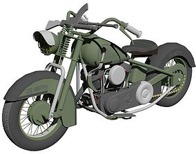 Harley Davidson FL US ARMY 1951 3D