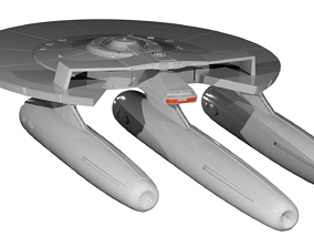 Star Trek USS Armstrong 3D Model NCC-1769 2009 Film