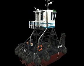 Truckable Push Boat 3D model