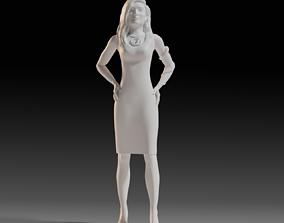 Figurine of a brunette 3D printable model