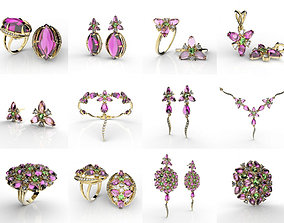 Fusion Flowers Jewelry Collection 3D