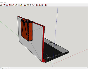 3D printable model External Hdd holding support for