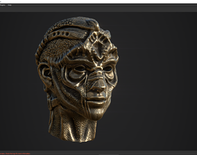 character head desing concept low poy PBR 3D asset