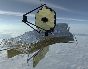 James Webb Space Telescope 3D asset