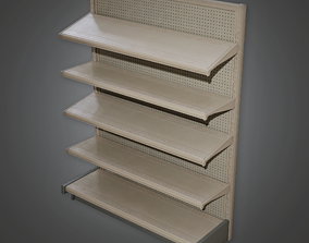 3D asset Commerical Shelf 04 - SAM - PBR Game Ready
