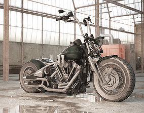 Harley Davidson Bobber 3d Model VR / AR ready