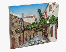 Rhodes Greece Magnet Souvenir 3D printable model