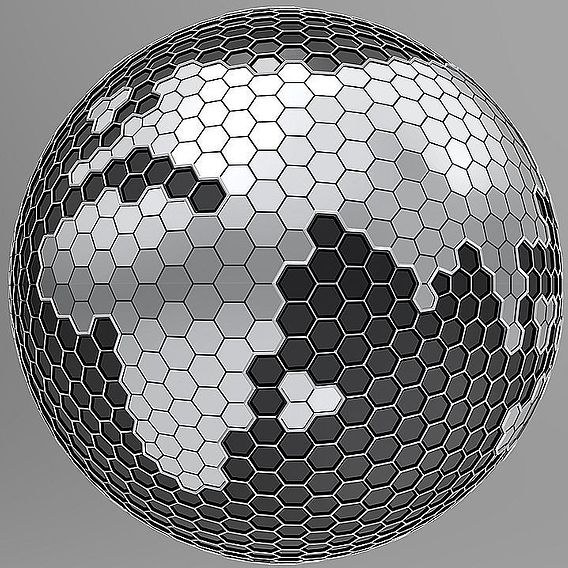 Hexagon Planet Earth 3D model