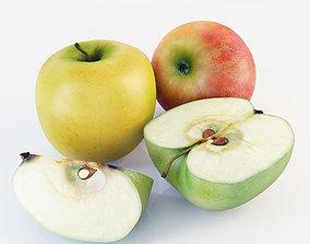 3D Apples set