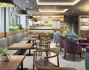 3D model Restaurant coffee luxury