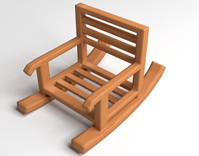 Rocking Chair 4 3D model