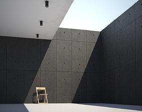 Black concrete slab wall texture large surface 3D