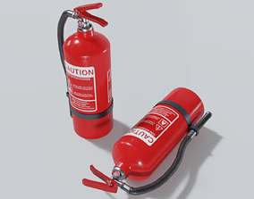 VR / AR ready Fire Extinguisher 3D Model Game ready prop