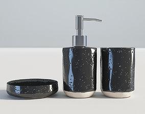 Bathroom Set Black 3D