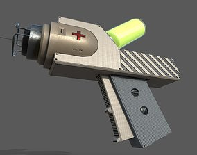 syringe for injection PBR low-poly game ready 3D asset