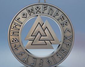 scandinavian Medallion valknut for 3D print