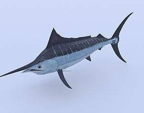 Marlin 3D model animated