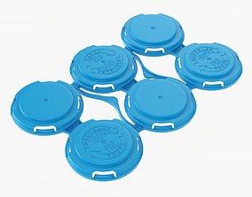 Clip PAK Carrier Handle Slim Can 6Pak 3D