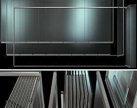 Glass Sliding Partition Walls 3D