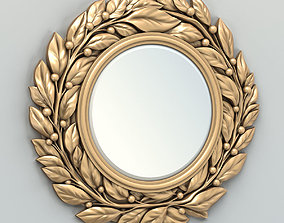 3D model Round mirror frame 006