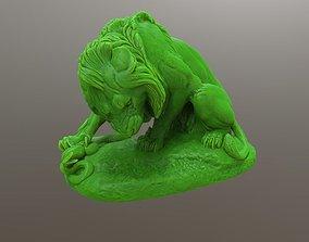 Lion Crushing a Serpent 3D print model