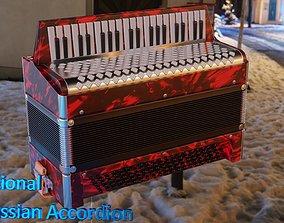 Caucassian Accordion 3D asset