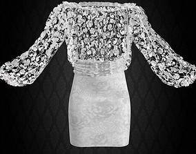 3D model Evening Lace Dress