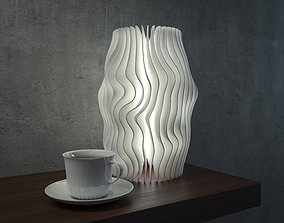 Generative design Wave lamp 5 high quality 3D print model