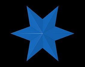 3D model 6 Point Star