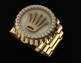 CROWN RING ROLEY custom made 3D print model