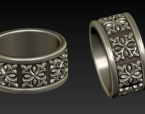 3D printable model Band ring NightRider style