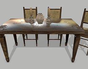 3D asset Table Set