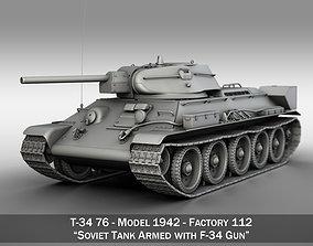 T-34-76 - Model 1942 - Factory 112 - Soviet Medium Tank