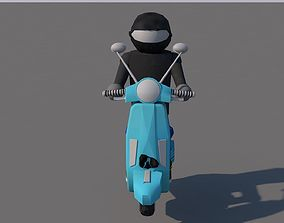 3D asset moped