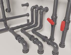 PVC modular pipe set 3D model