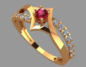 gold ring 3 rings 3D printable model