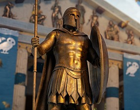 Ancient Greek Hoplite Statue 3D