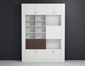 3D model Library cabinet with open shelves by Deni Art