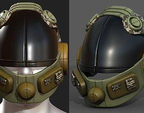 Helmet scifi military combat soldier fantasy 3D asset
