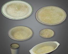 Dirty Dish Set - DVB - PBR Game Ready 3D model