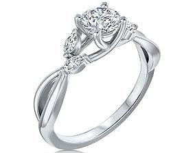 jewelry diamond ENGAGEMENT RING 3D print model