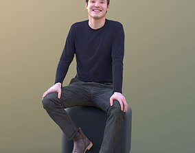 3D asset Andy 10461 - Sitting Casual Man