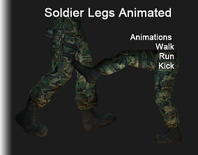 3D asset VR / AR ready Soldier Legs Animated