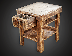 3D asset MVL - Side Table - PBR Game Ready