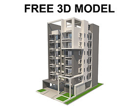 3D model Apartment Building 01