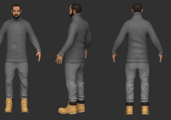 Drake Caricature model